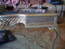 gilded table detail