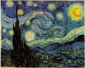 painting starry night by vincent van gogh