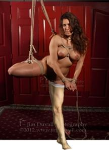 women in suspension bondage